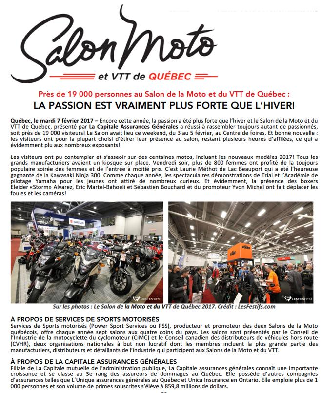 Pr s de 19 000 personnes au salon de la moto et du vtt de - Salon de la moto 2013 ...
